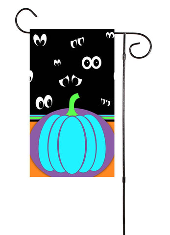 Teal Pumpkin Halloween Garden Flag