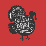 Thankful, Grateful, Blessed Thanksgiving Vinyl Print