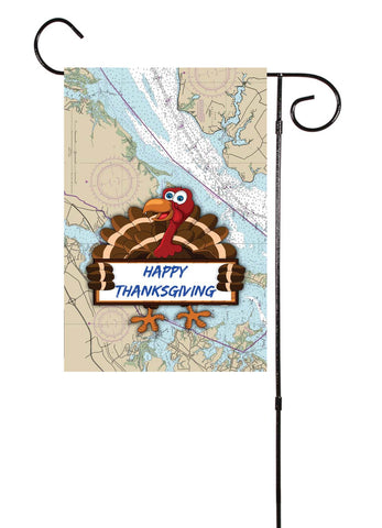 Thanksgiving Nautical Garden Flag