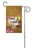 There's No Place Like Home Floral - Baseball and Softball Garden Flag