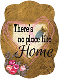 There's No Place Like Home - Baseball / Softball Door Hanger