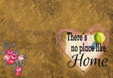 There's No Place Like Home Floral - Baseball/ Softball Welcome Mat