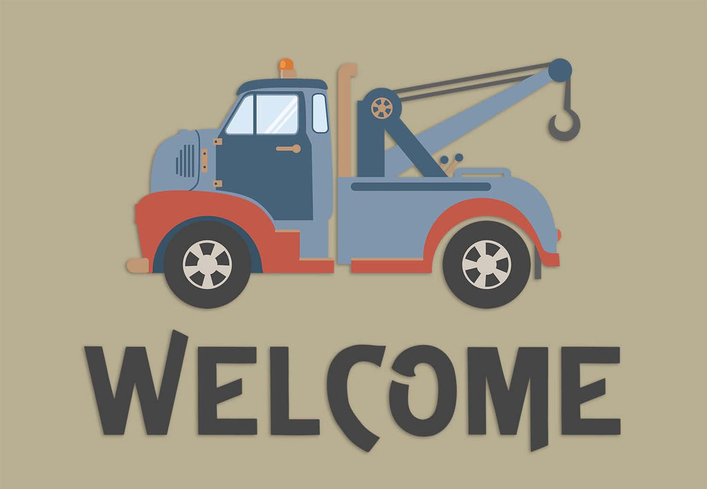 Tow Truck Wrecker Welcome Mat