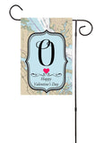 Happy Valentine's Day - Initial Nautical Garden Flag