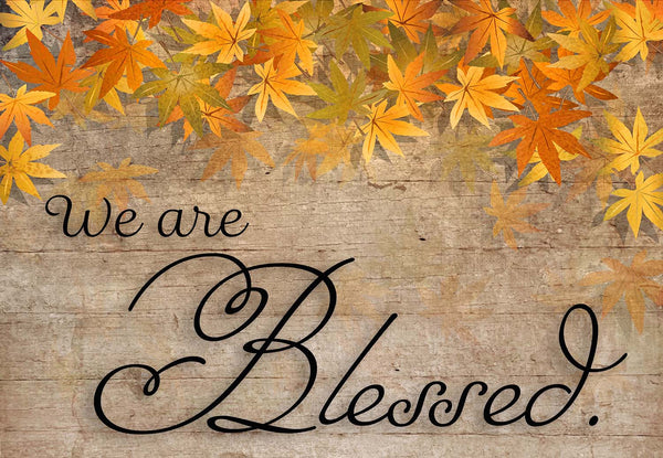 We Are Blessed Fall Welcome Mat Shut The Front Door By