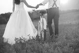 Bride & Groom Wedding With Bike Black & White Vinyl Print
