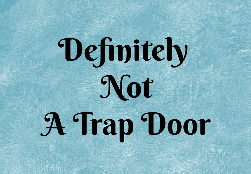 Definitely Not A Trap Door Welcome Mat