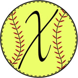 Softball Initial Door Hanger