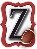 Red & White Football Door Hanger