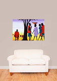 African Culture Painting Vinyl Print