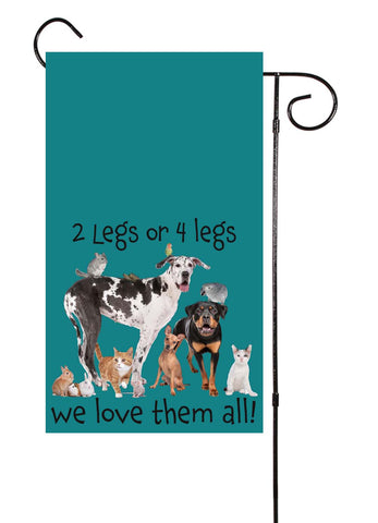 2 Legged or 4 Legged Animals Garden Flag