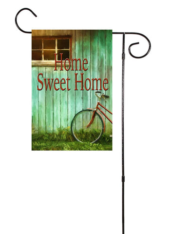 Old Bike Rustic Garden Flag