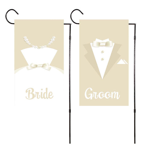 Bride & Groom 2 Pack Garden Flag