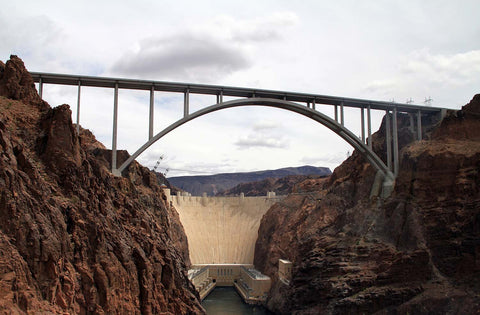 Hoover Dam Nevada Bypass Bridge Vinyl Print