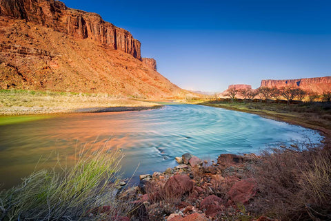 Colorful Colorado River / Grand Canyon Nevada Landscape Vinyl Print