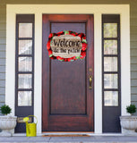 Welcome To The Patch - Strawberry Door Hanger