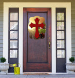 Cross On Farming Background Door Hanger