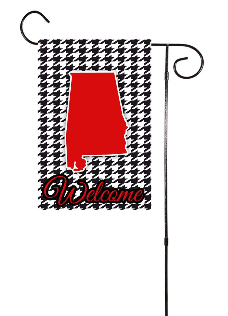 Alabama Houndstooth Garden Flag