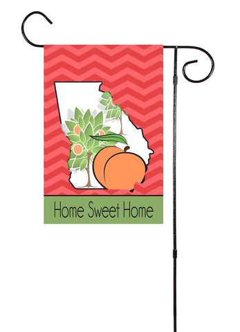 Georgia - Peach Tree Drawing - Garden Flag