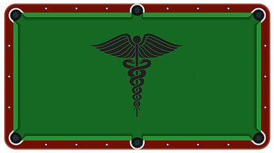 Caduceus Medical Symble Billiards Cloth