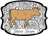 "Steer ""Show Team"" Dry Erase Stall Sign or Door Hanger"