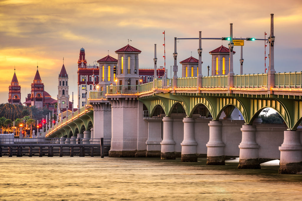 St. Augustine Bridge Sailcloth Print