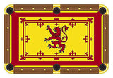 Scottish Flag Billiards Cloth