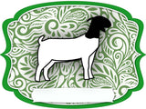 Goat Dry Erase Stall Sign or Door Hanger