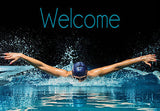 Swimming Welcome Mat