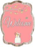 Spring Mason Jar & Georgia Colorful Cotton Double Sided Door Hanger