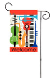 Musical Instruments Garden Flag