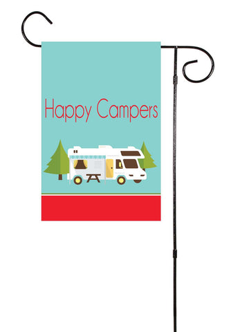 Happy Campers Garden Flag