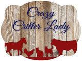 Crazy Critter Lady Door Hanger