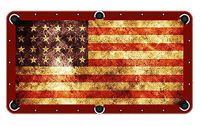 American Flag Billiards Cloth