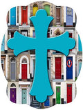 Cross On Colorful Doors Background Door Hanger