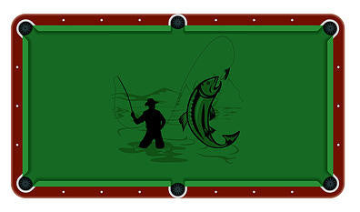 Fly Fishing Billiards Cloth