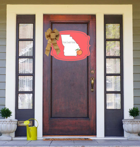 Georgia Peach Door Hanger