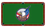 Bald Eagle With American Flag Billiards Cloth