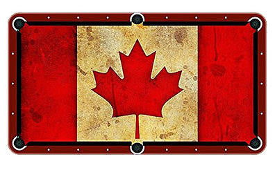 Canadian Flag Billiards Cloth