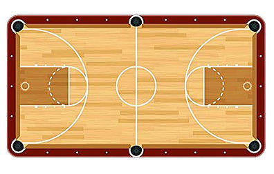 Basketball Court Billiards Cloth