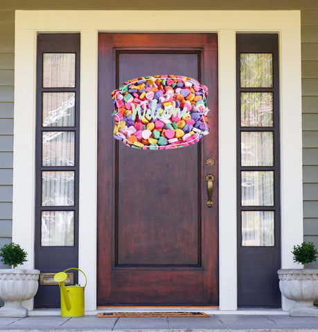 Valentine's - Conversation Hearts Door Hanger