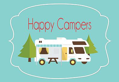 Happy Campers Welcome Mat