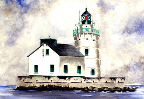 Lighthouse On Lake Erie Vinyl Print
