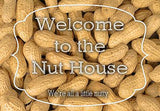 Welcome To The Nut House - Peanut Welcome Mat