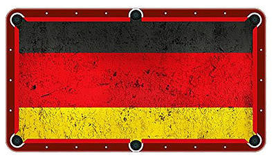 German Flag Billiards Cloth
