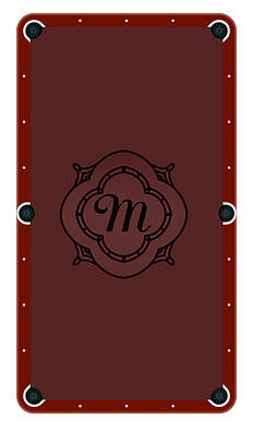 Monogram Frame M Billiards Cloth