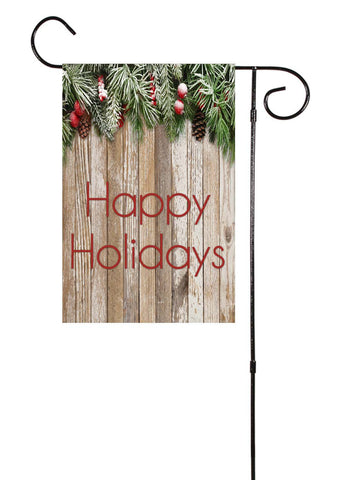 Happy Holidays Garden Flag