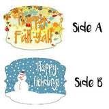 Happy Fall Y'all & Happy Holidays Double Sided Door Hanger