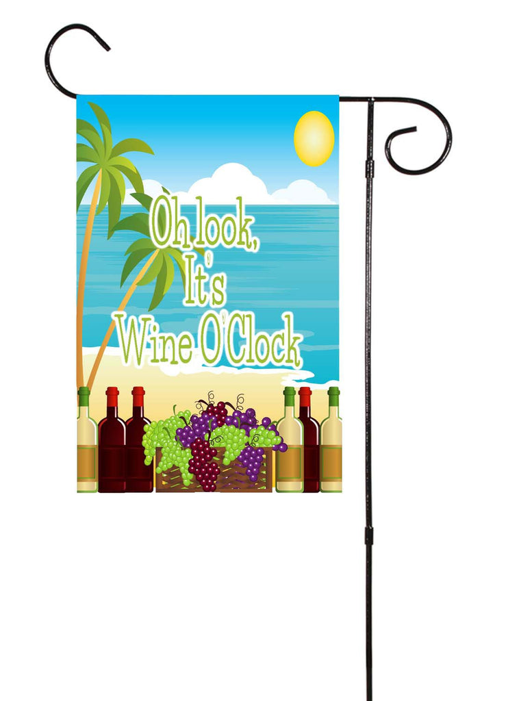 It's WineO'Clock Garden Flag