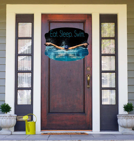 Swimming Door Hanger